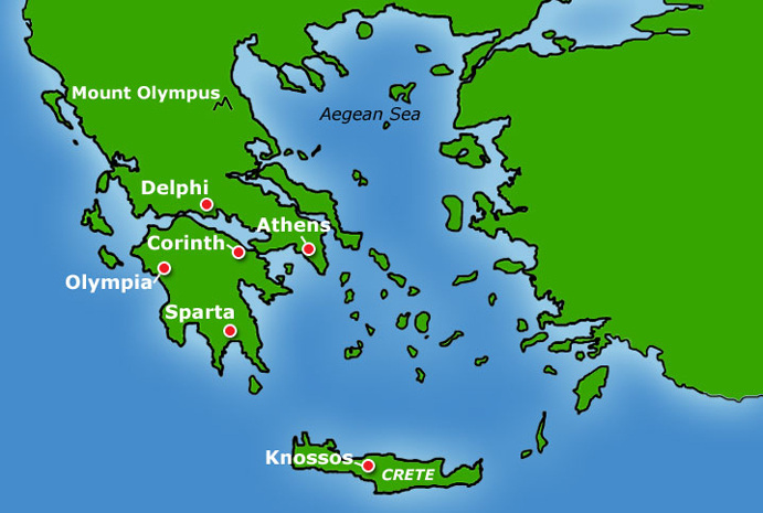 Ancient Greece Map With Cities.Cities Of Ancient Greece Physical Features Of Greece